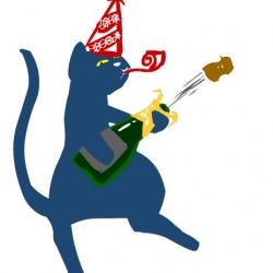 mascotte Chat festif