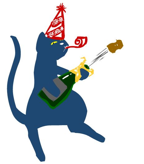 vœux 2016 (chat festif)