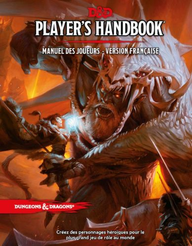 Donjons et Dragons 5 - couverture Player's Handbook