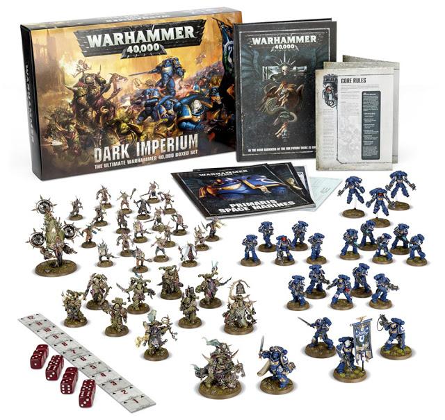 Warhammer 40k V8 - contenu boite de base