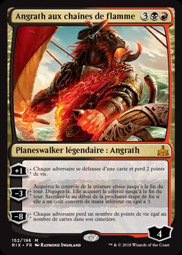 Angrath aux chaines de flamme- Les Combattants d'Ixalan - Magic - jeux- Toulon - L'Atanière
