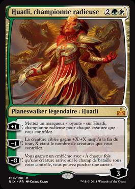 Huatli, championne radieuse- Les Combattants d'Ixalan - Magic - jeux - Toulon - L'Atanière