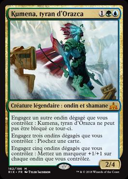 Kumena, tyran d'Orazca - Les Combattants d'Ixalan - Magic - jeux- Toulon - L'Atanière