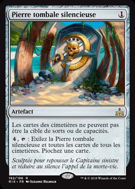 Pierre tombale silencieuse - Les Combattants d'Ixalan - Magic - jeux - Toulon - L'Atanière