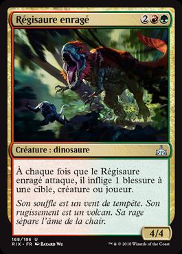 Régisaure enragé - Les Combattants d'Ixalan - Magic - jeux - Toulon - L'Atanière