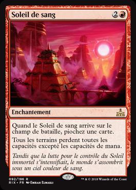 Les Combattants d'Ixalan - Soleil de sang - Magic - jeux - Toulon - L'Atanière
