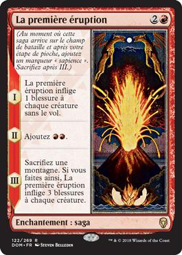 La première éruption - Dominaria - Magic - jeux - Toulon - L'Atanière