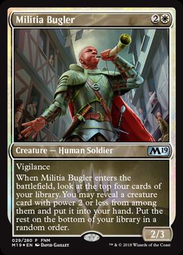 Militia Bugler - FNM - M19 - Magic - jeux - Toulon - L'Atanière