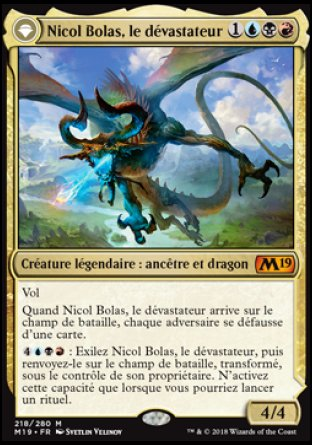 Nicol Bolas recto - Magic 2019 - jeux Toulon - L4Atanière