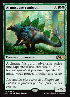 Armosaure runique - Magic 2019 - jeux Toulon - L'Atanière