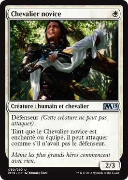 Chevalier novice - Magic 2019 - jeux Toulon - L'Atanière