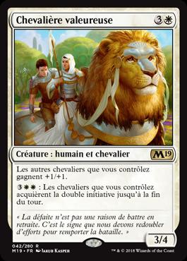 Chevalière valeureuse - Magic 2019 - jeux Toulon - L'Atanière