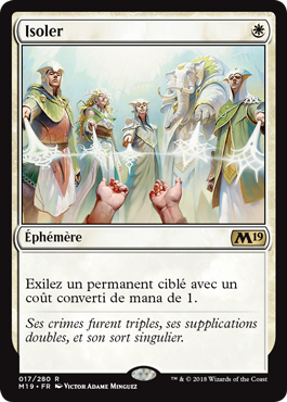 Isoler - Magic 2019 - jeux Toulon - L'Atanière