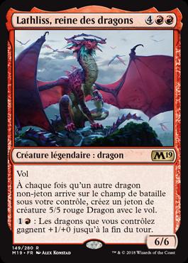 Lathliss, reine des dragons - Magic 2019 - jeux Toulon - L'Atanière