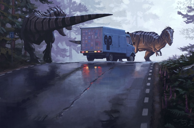 Tales from the Loop - jdr - camion - dinosaures - jeux - Toulon - L'Atanière