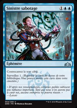 Sinistre sabotage - GRN - Magic - jeux - Toulon - L'Atanière