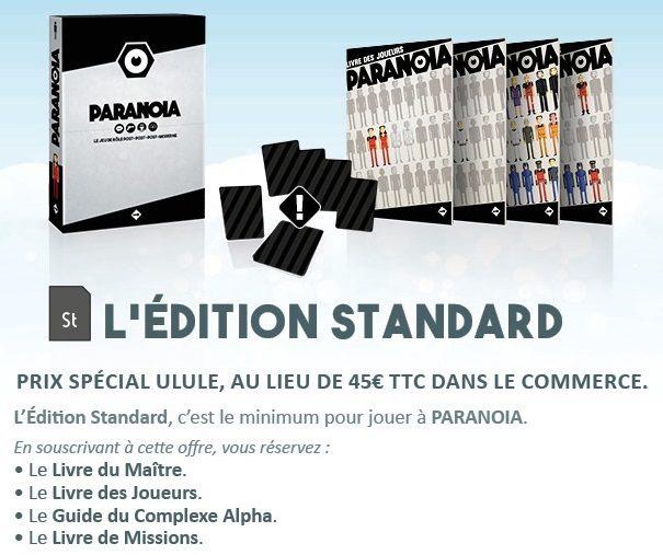 Paranoïa édition standard - jdr - jeux - Toulon - L'Atanière