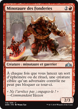 Minotaure des fonderies - GRN - Magic - jeux - Toulon - L'Atanière