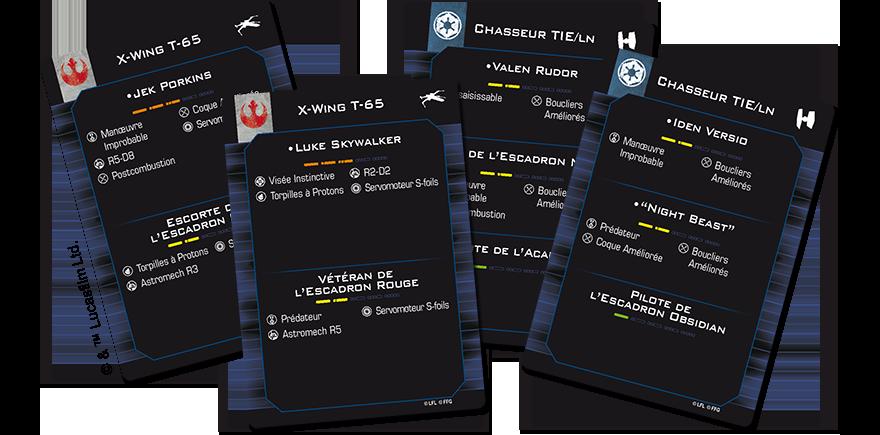 X-Wing 2.0 - cartes de Formation Rapide - Star Wars - jeux - Toulon - L'Atanière