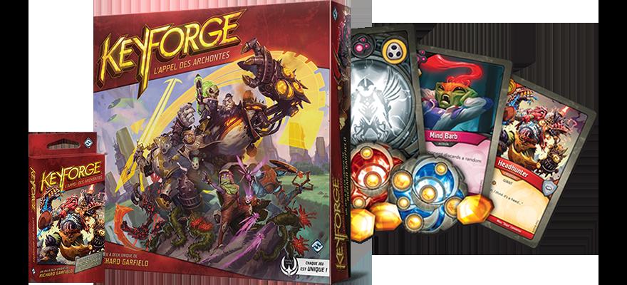 KeyForge - matériel - Fantasy Flight Games - jeux - Toulon - L'Atanière
