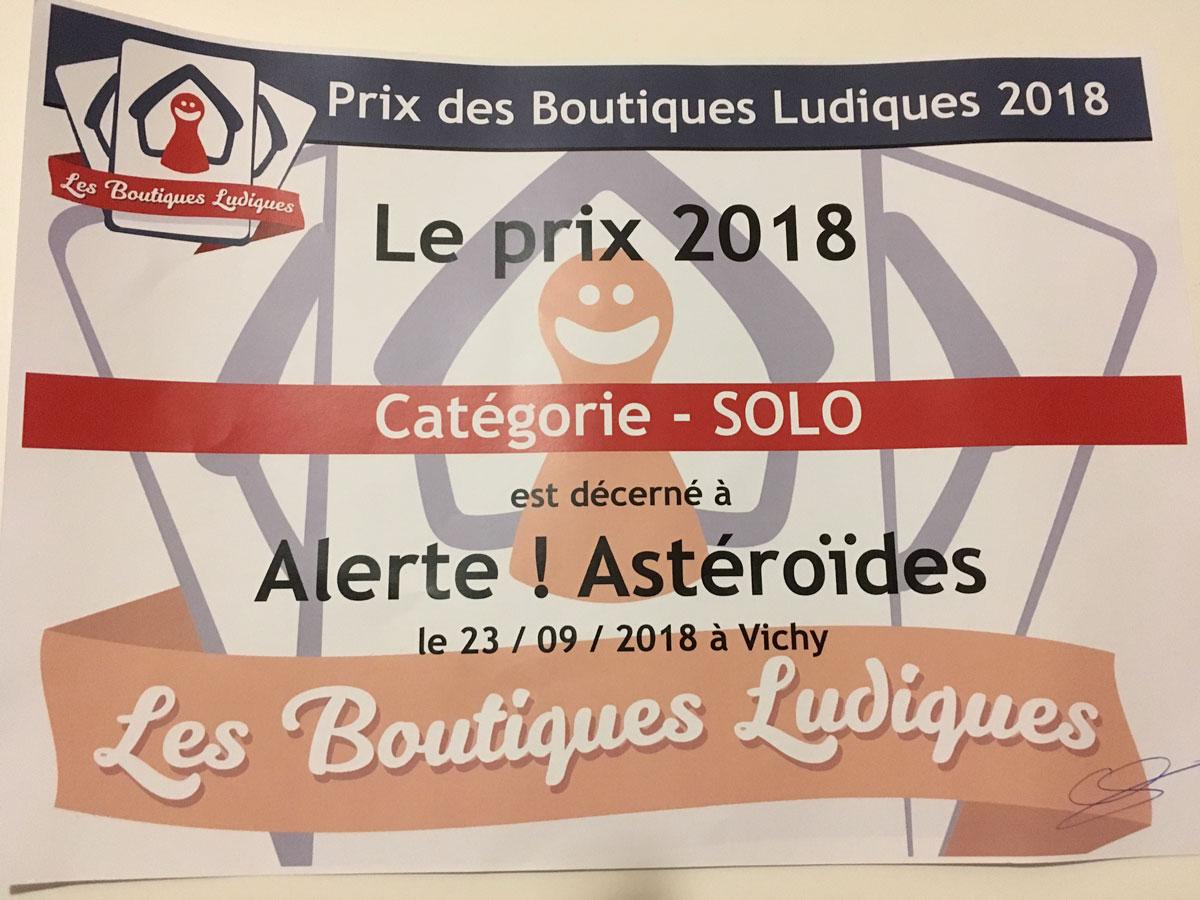 Alerte Astéroïdes prix gbl jeux Toulon L'Atanière