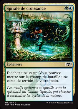 Spirale de croissance - Allégeance de Ravnica - Magic - jeux - Toulon - L'Atanière