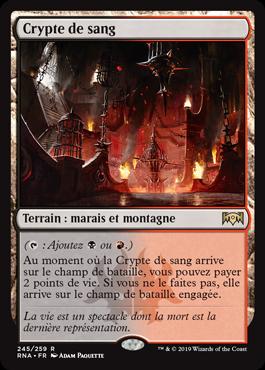 Crypte de sang - L'Allégeance de Ravnica - RNA - Magic - jeux - Toulon - L'Atanière