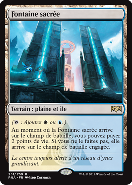 Fontaine sacrée - L'Allégeance de Ravnica - RNA - Magic - jeux - Toulon - L'Atanière