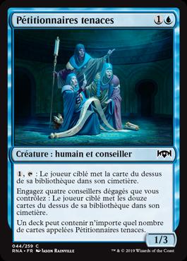 Pétitionnaires tenaces - L'Allégeance de Ravnica - RNA - Magic - jeux - Toulon - L'Atanière