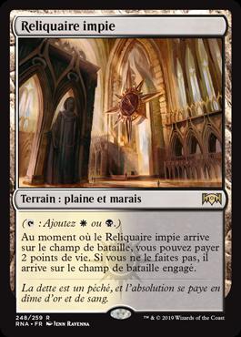 Reliquaire impie - L'Allégeance de Ravnica - RNA - Magic - jeux - Toulon - L'Atanière