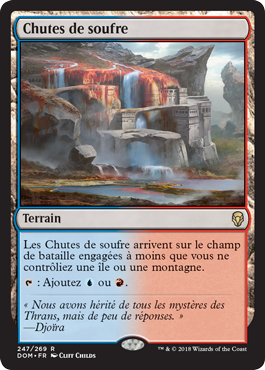 Chutes de soufre - DOM - Sulfur Falls - Magic - Wizards Of The Coast - jeux -Toulon - L'Atanière