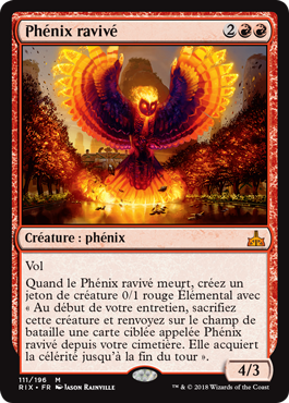 Phenix ravivé - RIX - Rekindling Phoenix - Magic - Wizards Of The Coast - jeux -Toulon - L'Atanière