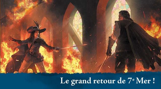 7e Mer bretteurs sur scene en flammes | Jeux Toulon L'Atanière