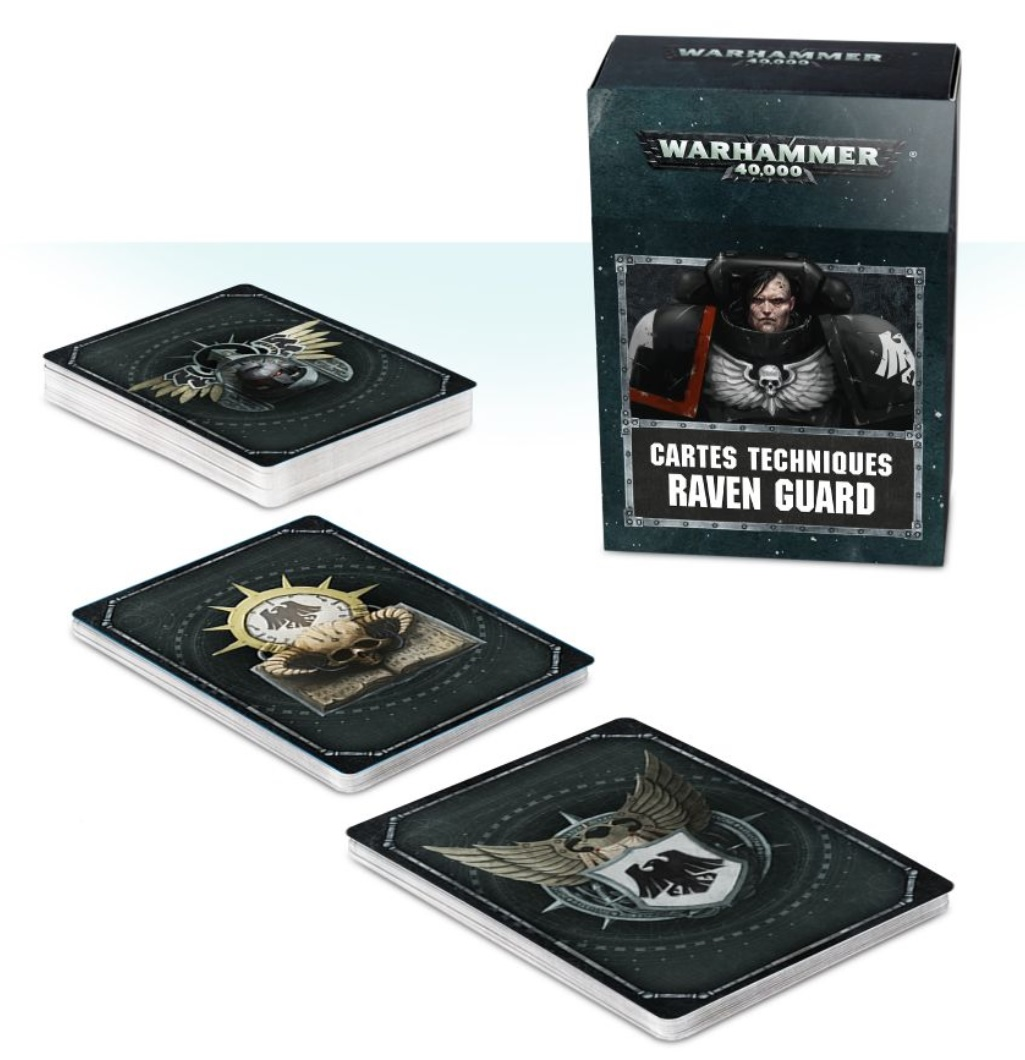 raven guard supplement datacards space marine 2019 | Jeux Toulon L'Atanière
