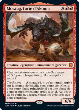 Moraug furie d Akoum ZNR Renaissance de Zendikar MTG Magic Wizards of the Coast | Jeux Toulon L'Atanière