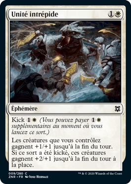 Unite Intrepide ZNR Renaissance de Zendikar MTG Magic Wizards of the Coast | Jeux Toulon L'Atanière