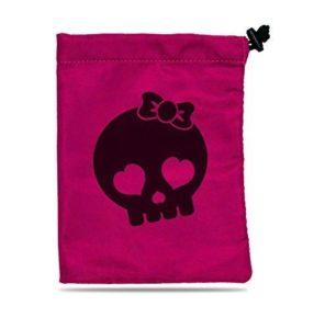 Bourse Illustrée Skull Girl : Rose