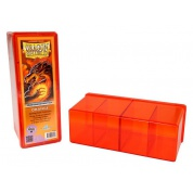 Boite de Rangement 4 Cases Dragon Shield : Orange