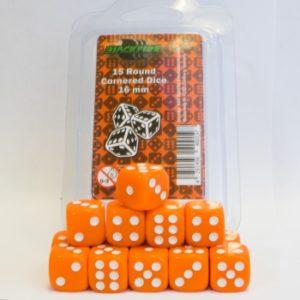 Set de 15 dés 6 Opaque : Orange