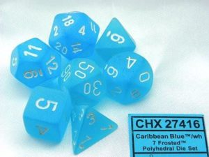 Set 7D Frosted Caribbean Blue w/White