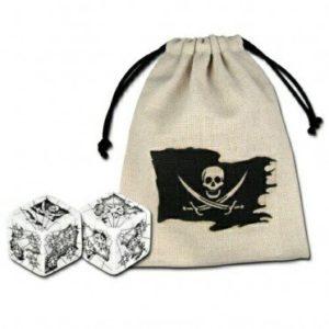 Bourse Drapeau Pirate (sans dés)