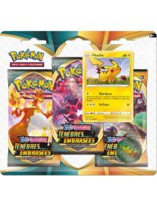 Pokémon - Tripack EB03 Ténèbres embrasées Pikachu