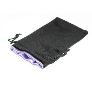 Bourse Velours Noir 20x12 cm : Satin Violet