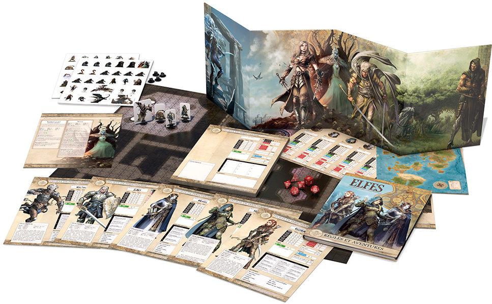 Elfes initiation au jeu d aventure dans les Terres d Arran contenu Black Book | Jeux Toulon L'Atanière
