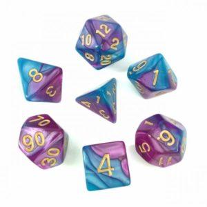 Set de 7D Fusion : Bleu et Violet Clair