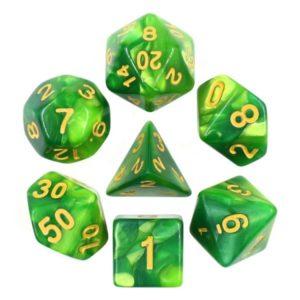 Set de 7D Fusion : Vert et Vert Sombre