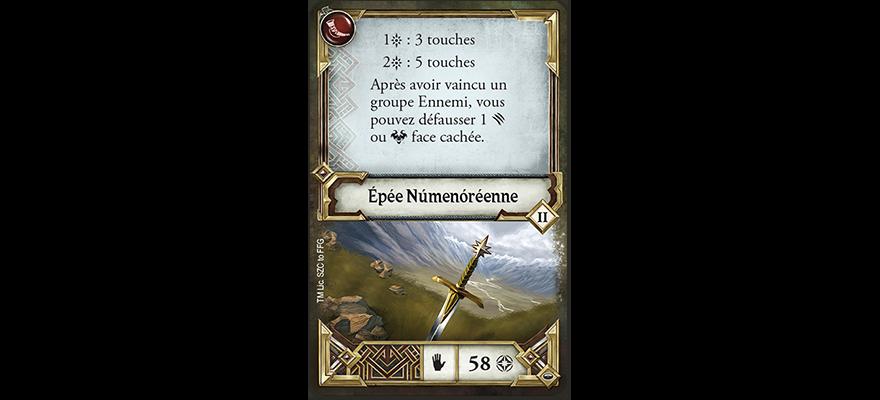 Voyages en Terre du Milieu Le Seigneur des Anneaux epee Numenor FFG Fantasy Flight Games   Jeux Toulon L'Atanière