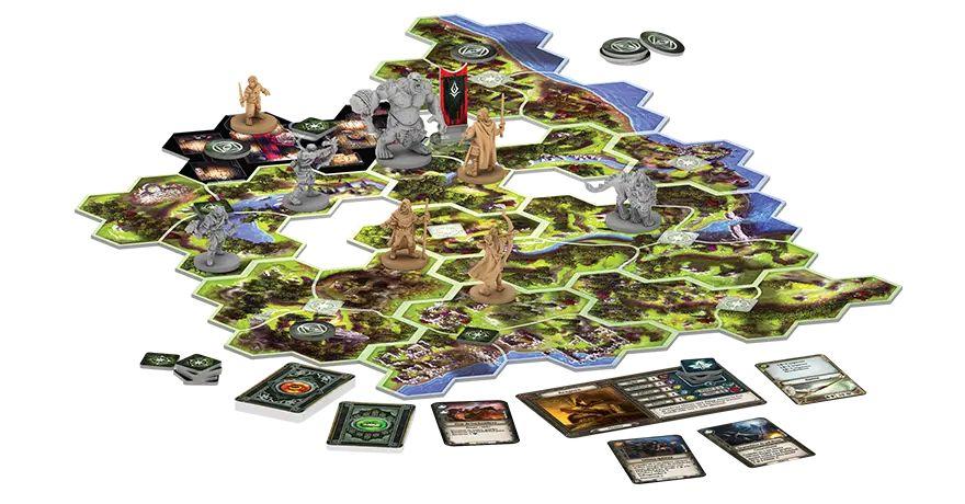 Voyages en Terre du Milieu Le Seigneur des Anneaux materiel FFG Fantasy Flight Games   Jeux Toulon L'Atanière