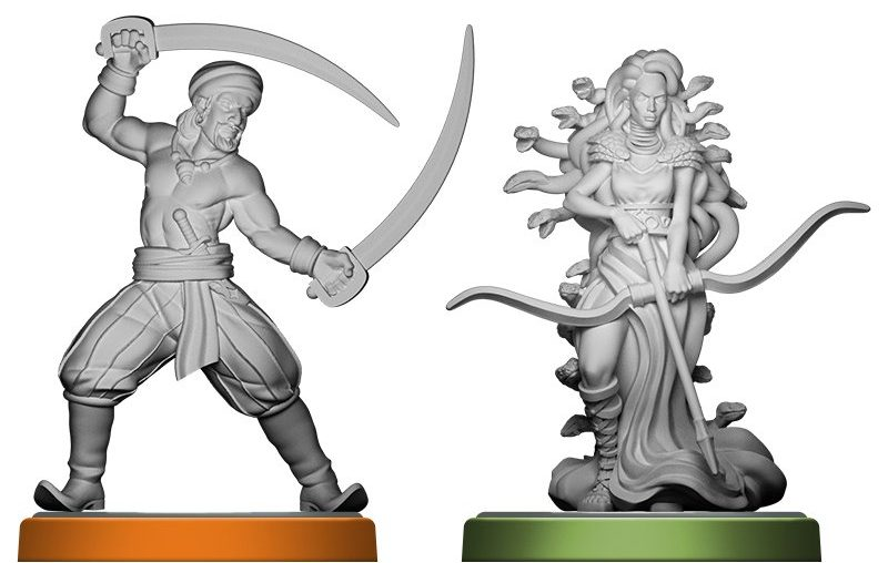 unmatch combat de legende volume 1 jeu iello figurines sinbad et meduse | Jeux Toulon L'Atanière