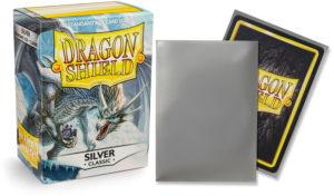 Pochettes Standard x100 Dragon Shield : Silver (Argent)